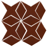 Clay Arabesque Granada Tile - Cinnamon 7581c
