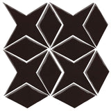 Clay Arabesque Granada Tile - Classic Black