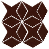 Clay Arabesque Granada Tile - Dark roast 476c