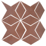 Clay Arabesque Granada Tile - Eggplant 5115c