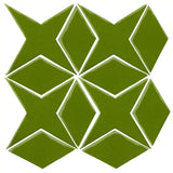 Clay Arabesque Granada Tile - Evergreen 7741c