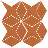 Clay Arabesque Granada Tile - Fawn Brown Matte 470u