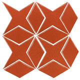 Clay Arabesque Granada Tile - Hazard Orange