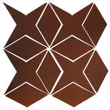 Clay Arabesque Granada Tile - Leather