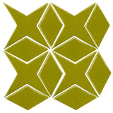 Clay Arabesque Granada Tile - Lime Green 7495c
