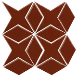 Clay Arabesque Granada Tile - Mahogany 478c