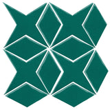 Clay Arabesque Granada Tile - Mallard Green 7721c