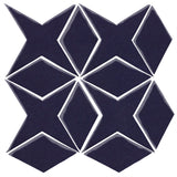 Clay Arabesque Granada Tile - Midnight Blue 2965c