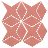 Clay Arabesque Granada Tile - Peach Pie