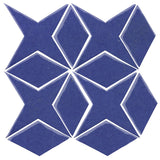 Clay Arabesque Granada Tile - Periwinkle 7456c