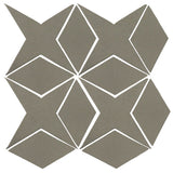 Clay Arabesque Granada Tile - Pewter Matte 418u