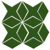 Clay Arabesque Granada Tile - Pine Green 7734c