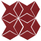 Clay Arabesque Granada Tile - Plum 7642c
