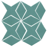 Clay Arabesque Granada Tile - Powder Blue 7458c