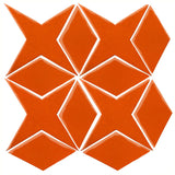 Clay Arabesque Granada Tile - Pumpkin 1585c
