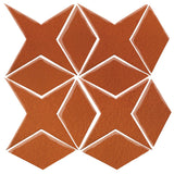 Clay Arabesque Granada Tile - Spanish Brown