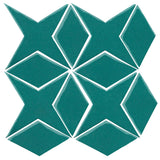 Clay Arabesque Granada Tile - Teal 5483c