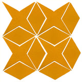 Clay Arabesque Granada Tile - Valencia Orange Matte 129u
