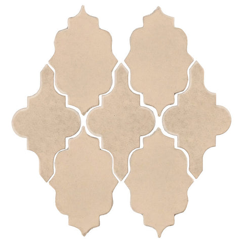 Clay Arabesque Leon Ceramic Tile - Almond