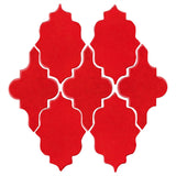 Clay Arabesque Leon Ceramic Tile - Chile Papper