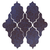 Clay Arabesque Leon Ceramic Tile - Persian Blue