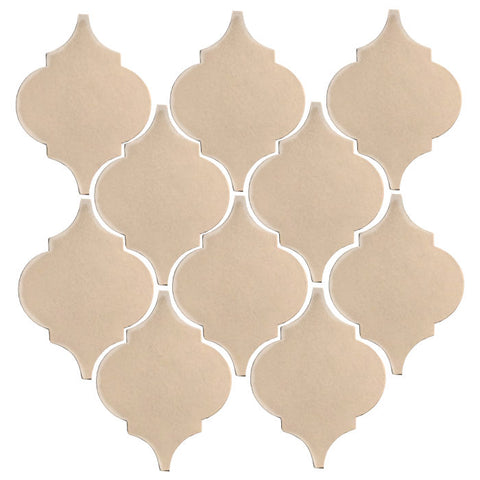 Clay Arabesque Malaga Ceramic Tile - Almond