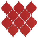 Clay Arabesque Malaga Ceramic Tile - Apple