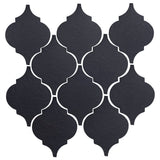Clay Arabesque Malaga Ceramic Tile - Black Diamond