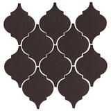 Clay Arabesque Malaga Ceramic Tile - Charcoal Matte