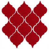 Clay Arabesque Malaga Ceramic Tile - Cherry Red