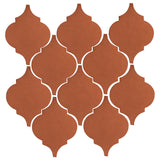 Clay Arabesque Malaga Ceramic Tile - Chocolate