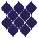 Clay Arabesque Malaga Ceramic Tile - Cobalt