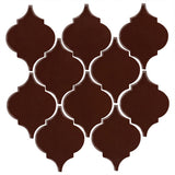 Clay Arabesque Malaga Ceramic Tile - Dark Roast