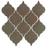Clay Arabesque Malaga Ceramic Tile - Elder Green