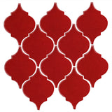 Clay Arabesque Malaga Ceramic Tile - Fire Engine Red