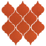 Clay Arabesque Malaga Ceramic Tile - Hazard Orange