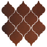 Clay Arabesque Malaga Ceramic Tile - Leather