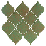 Clay Arabesque Malaga Ceramic Tile - Light Copper