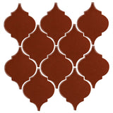 Clay Arabesque Malaga Ceramic Tile - Mahogany