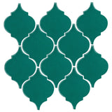 Clay Arabesque Malaga Ceramic Tile - Mallard Green