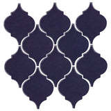 Clay Arabesque Malaga Ceramic Tile - Midnight Blue