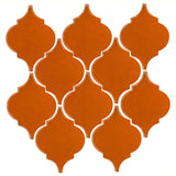 Clay Arabesque Malaga Ceramic Tile - Nutmeg