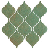 Clay Arabesque Malaga Ceramic Tile - Patina Matte