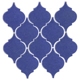 Clay Arabesque Malaga Ceramic Tile - Periwinkle