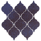Clay Arabesque Malaga Ceramic Tile - Persian Blue