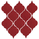 Clay Arabesque Malaga Ceramic Tile - Plum