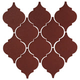 Clay Arabesque Malaga Ceramic Tile - Pueblo Red