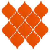 Clay Arabesque Malaga Ceramic Tile - Pumpkin