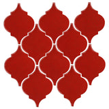 Clay Arabesque Malaga Ceramic Tile - Sangria