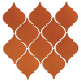 Clay Arabesque Malaga Ceramic Tile - Spanish Brown